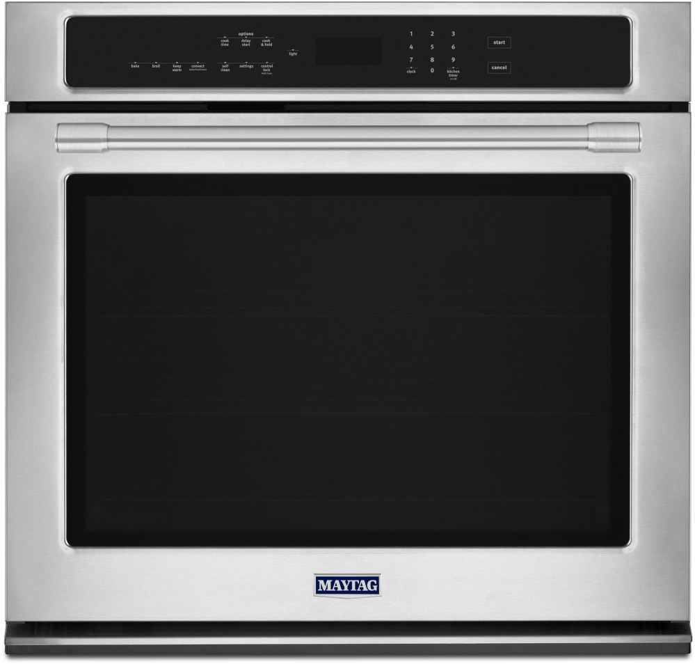medium resolution of maytag mew9527fz 27 inch electric wall oven with 5 0 cu ft capacity fingerprint resistant stainless steel true convection with fan and 3rd element