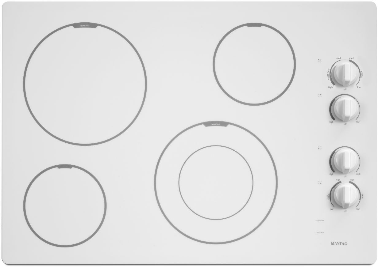 Maytag MEC7430BW 30 Inch Smoothtop Electric Cooktop with 4