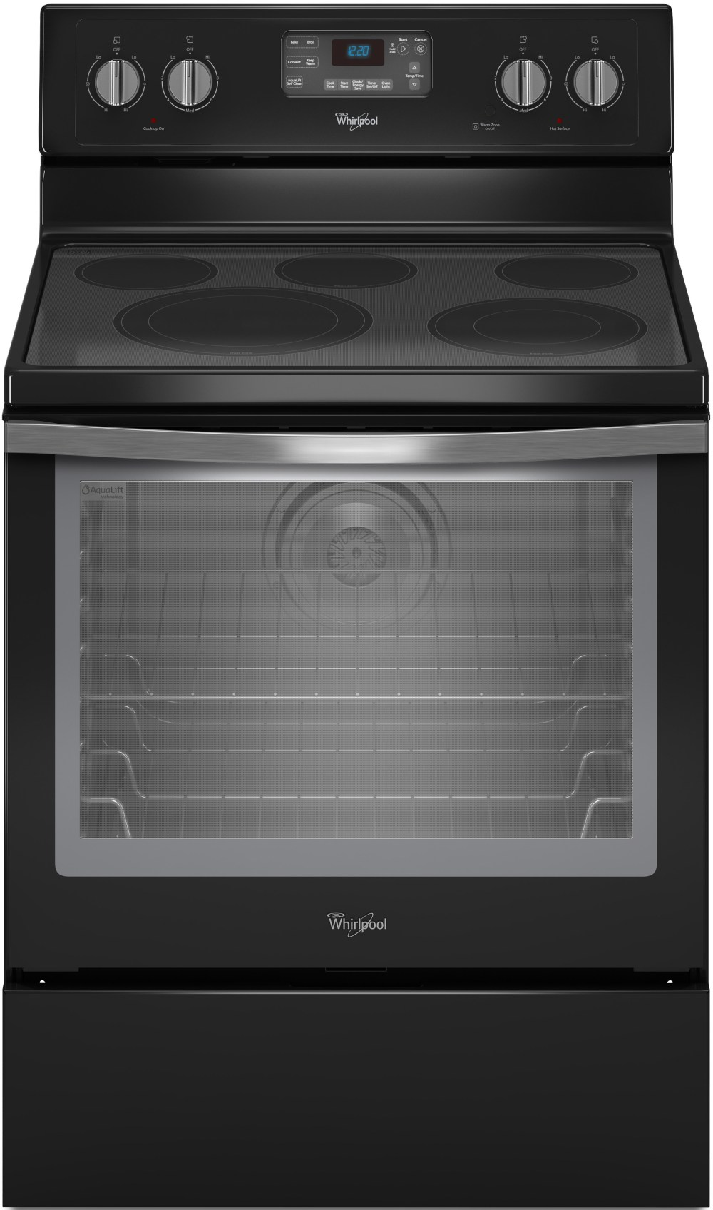 medium resolution of whirlpool wfe540h0ee 30 inch freestanding electric range with convection accubake flexheat aqualift 5 smoothtop elements 6 4 cu ft