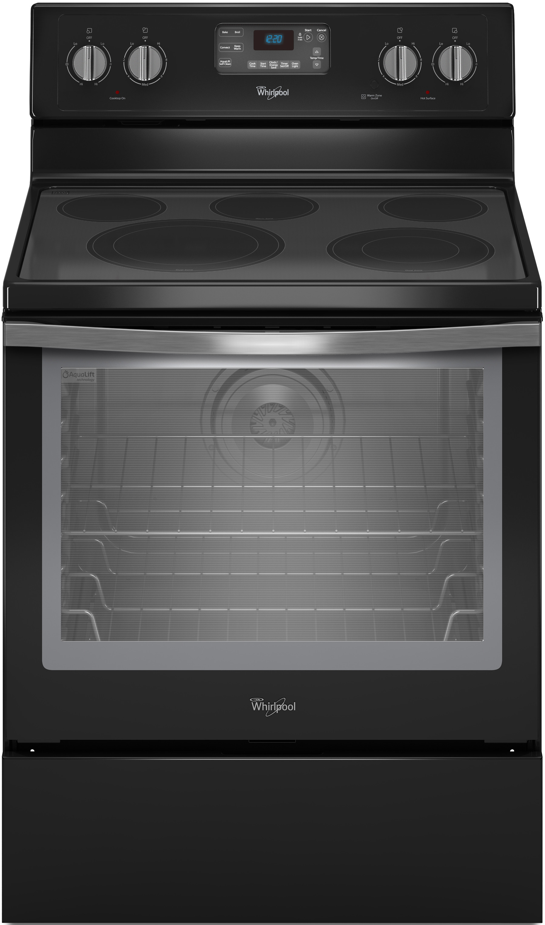 hight resolution of whirlpool wfe540h0ee 30 inch freestanding electric range with convection accubake flexheat aqualift 5 smoothtop elements 6 4 cu ft