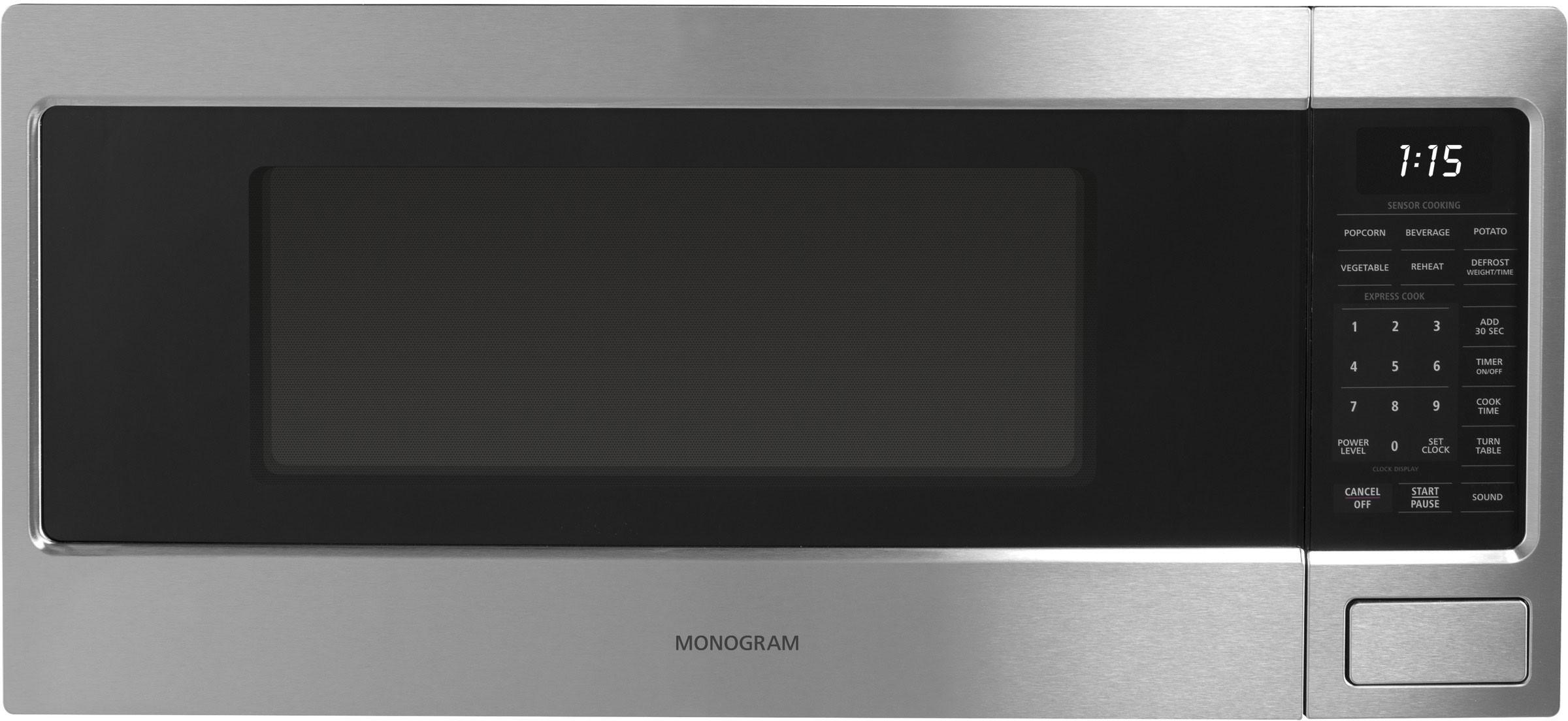 monogram 1 1 cu ft countertop microwave oven