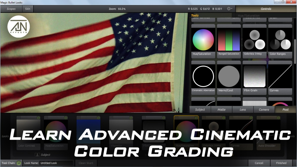 Learn Advanced Cinematic Color Grading.