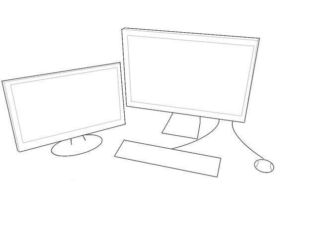 computer outline drawing