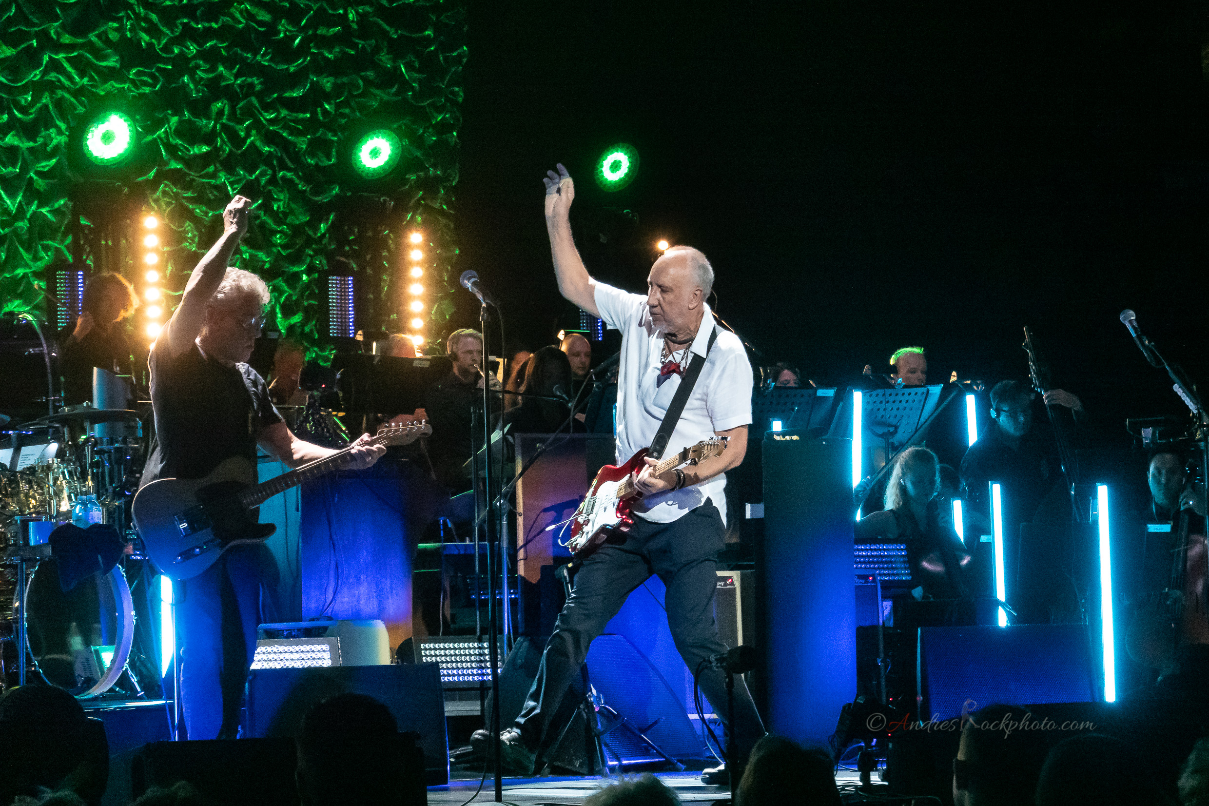 Roger Daltrey and Pete Townshend with orchestra
