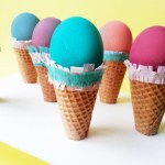 DIY Easter Egg Ice Cream Cones