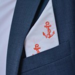 DIY Stamped Pocket Square