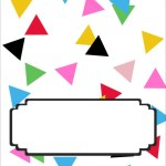 Confetti Food Tent Signs | Free Printable Friday