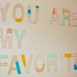 DIY Color Block Letters
