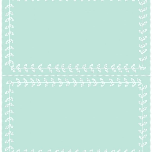Mint Place Cards | Free Printable Friday