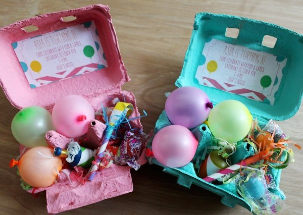 Egg Carton Birthday Party Invitation