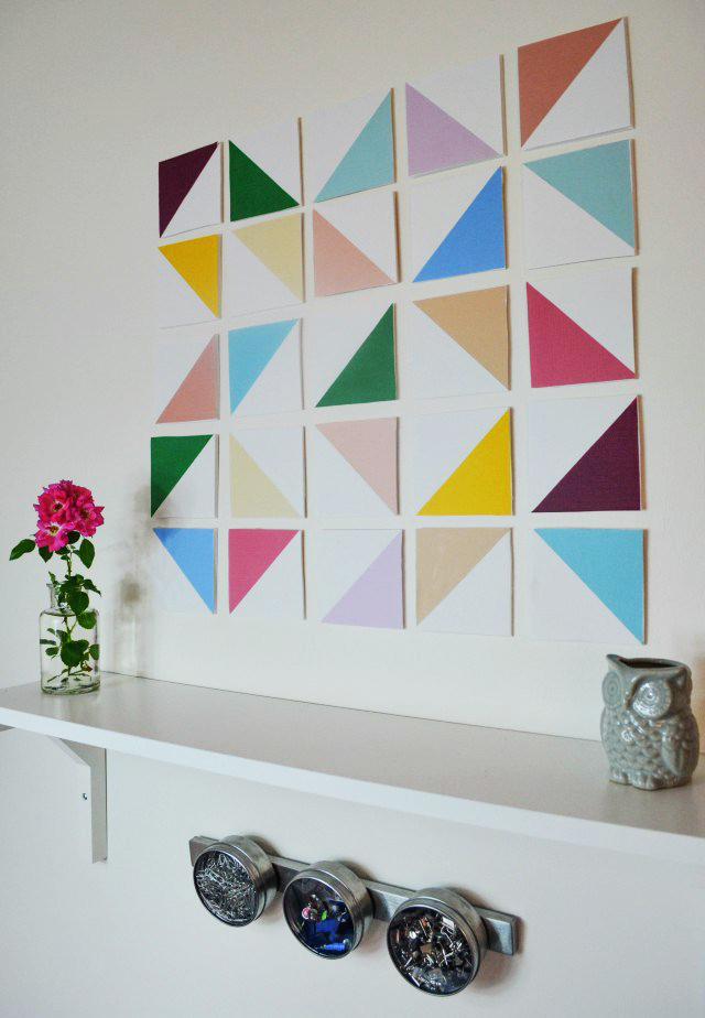 Here Is Another Fun And Simple Geometric Wall Art Idea. This Literally  Takes No Art Skills Whatsoever And Even Has A Little Dimension Which I Love  As Well.