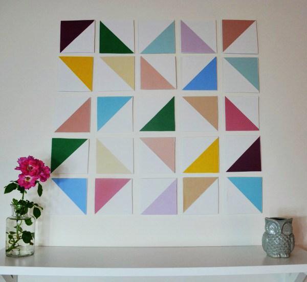 DIY Dimensional Geometric Wall Art