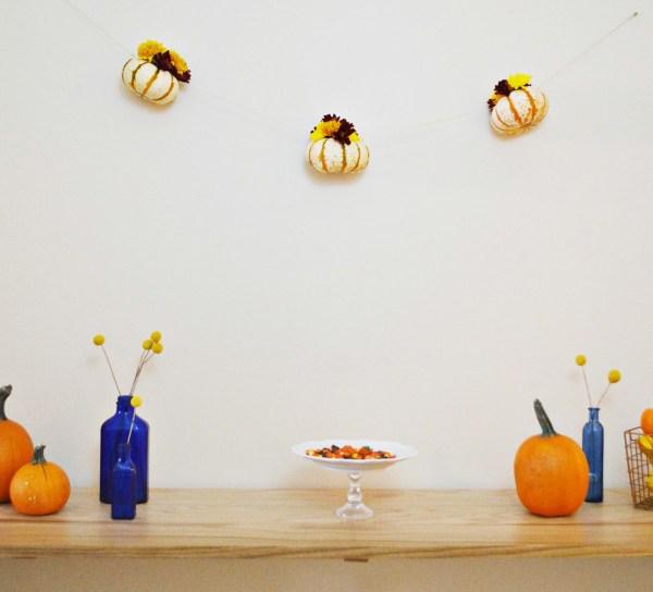 Floral Pumpkin Garland