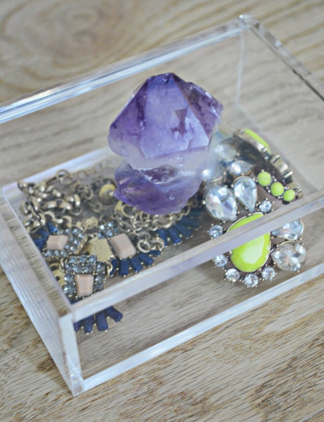 DIY Gem Jewelry Box | A Joyful Riot @ajoyfulriot