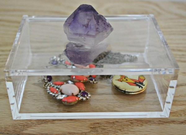 DIY Amethyst Jewelry Box