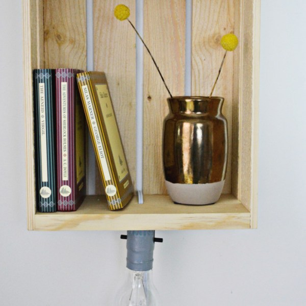 DIY Shelf Sconce