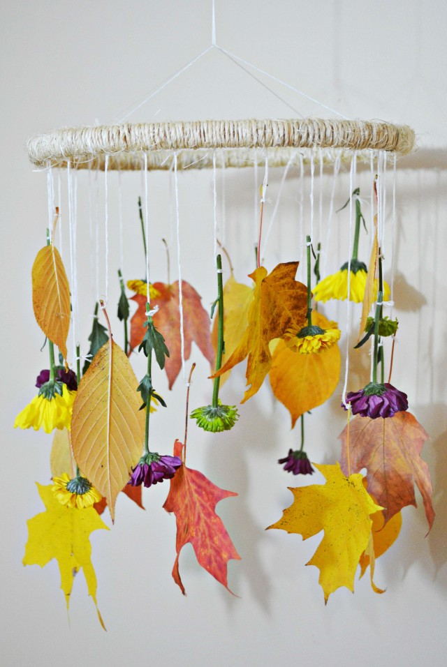 Diy Fall Leaves Flowers Mobile A Joyful Riot