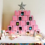 Cupcake Box Advent Calendar + Free Printable Countdown Stickers
