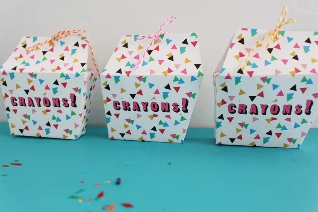 Free trapezoid shape box template with triangle confetti pattern. | A Joyful Riot