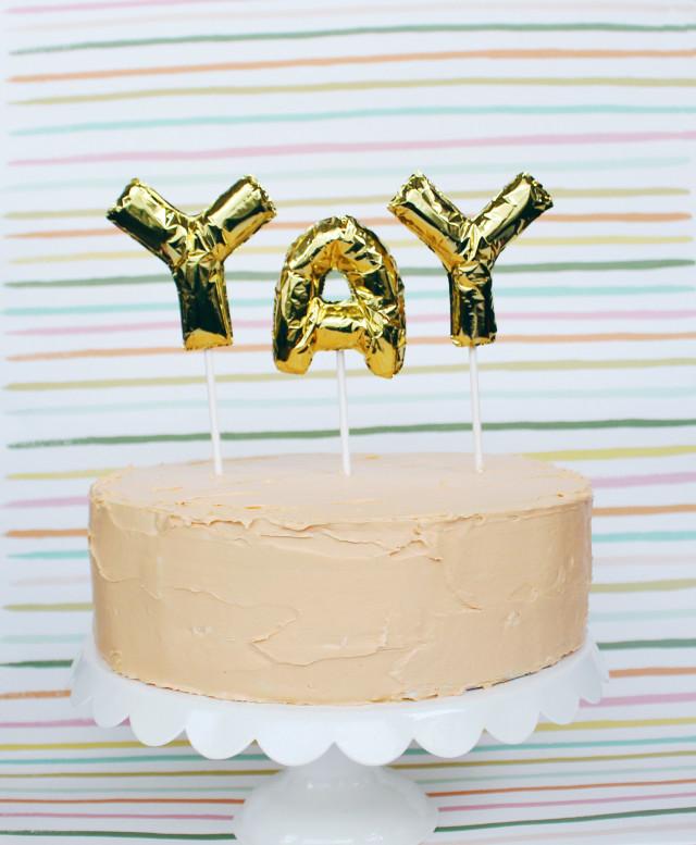 diy mini foil letter balloon cake toppers a joyful riot ajoyfulriot