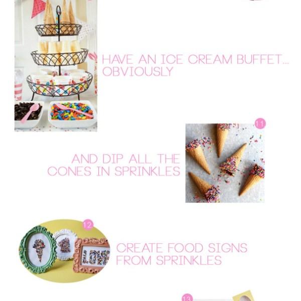 I Scream for 2015!   NYE Ice Cream Party Inspiration
