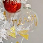 Glitter Word Ornaments