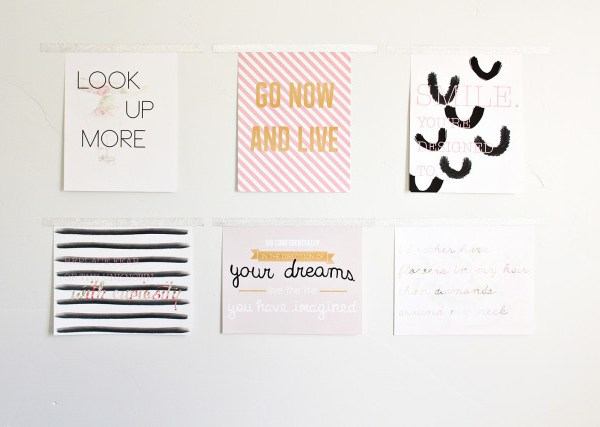 New Year Resolution Prints | Free Printable Friday