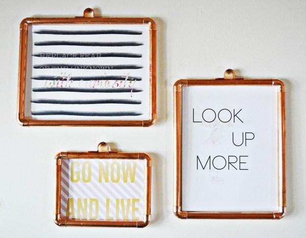 DIY Copper Frames