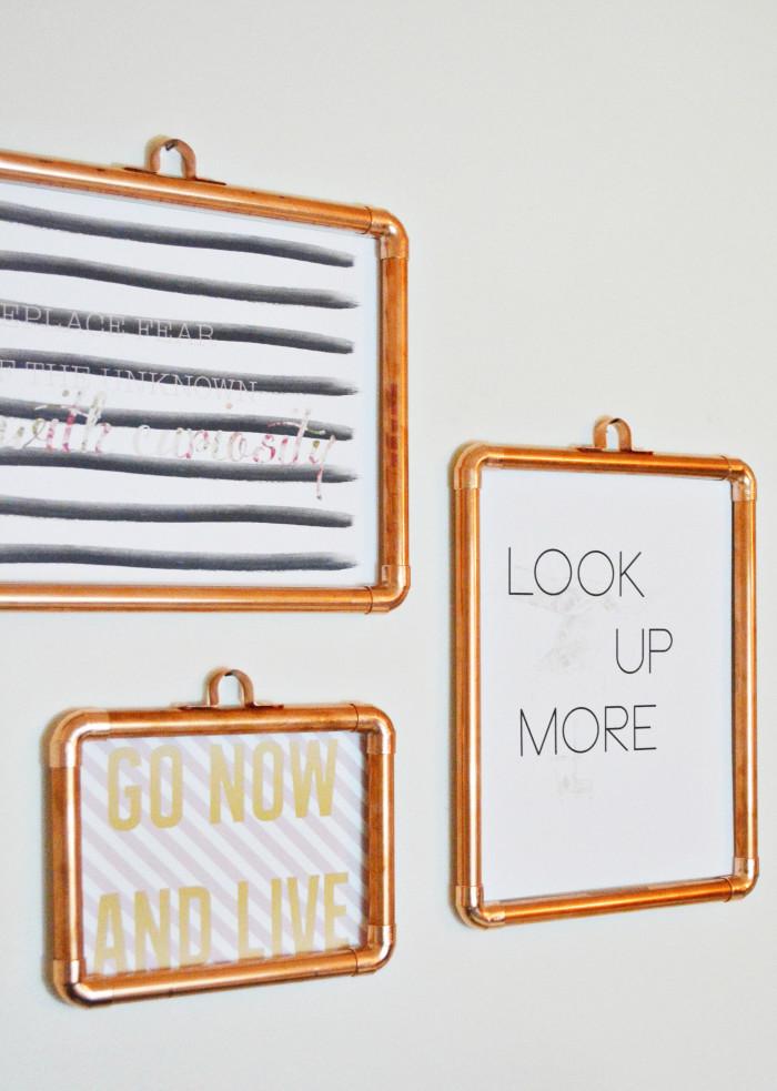 DIY Copper Frames | A Joyful Riot