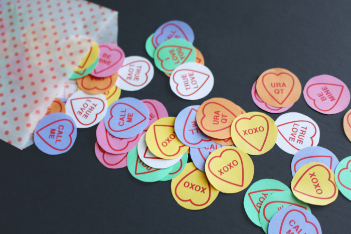 picture regarding Printable Conversation Hearts referred to as Communication Center Confetti Absolutely free Printable Friday A
