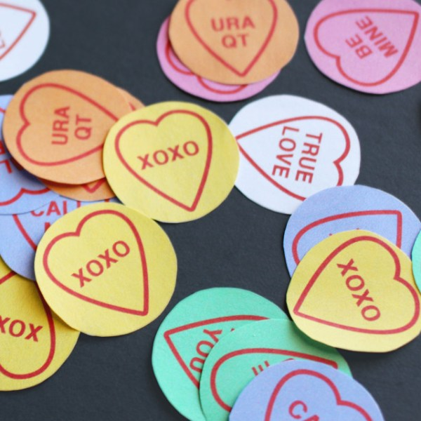 Conversation Heart Confetti | Free Printable Friday