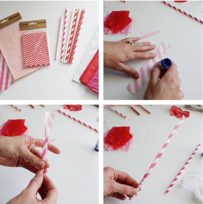 Make cute Valentine party blowouts with paper straws and then use this free printable to hand them out! | A Joyful Riot