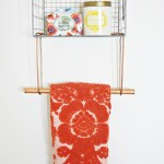 Wire Basket Towel Rack