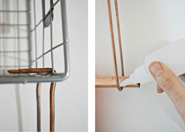 wire towel rack step3