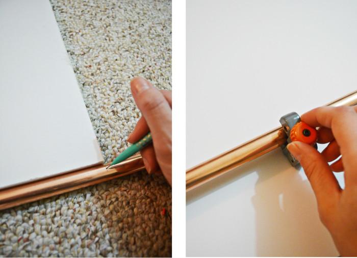 DIY Copper Pipe Bookcase   A Joyful Riot