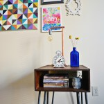 DIY Copper Dipped Hairpin Leg Side Table