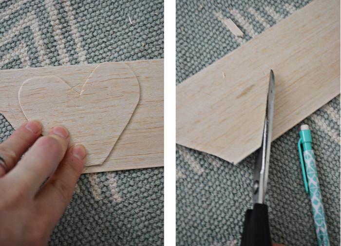 wood heart garland steps1