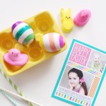Multi-Colored Striped Easter Eggs DIY with Tiny Prints