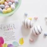Silver Glitter Striped Easter Eggs