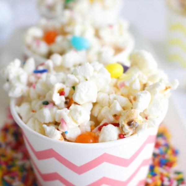 White Chocolate Easter Popcorn