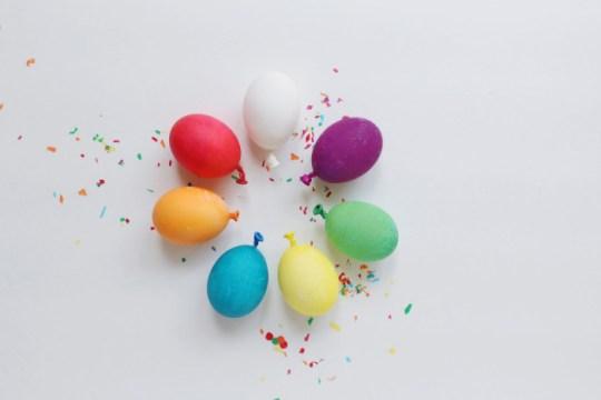 easter eggs that look like balloons!   A Joyful Riot