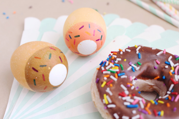 Sprinkled donut Easter eggs. Perfect for non-easter party food too! | A Joyful Riot