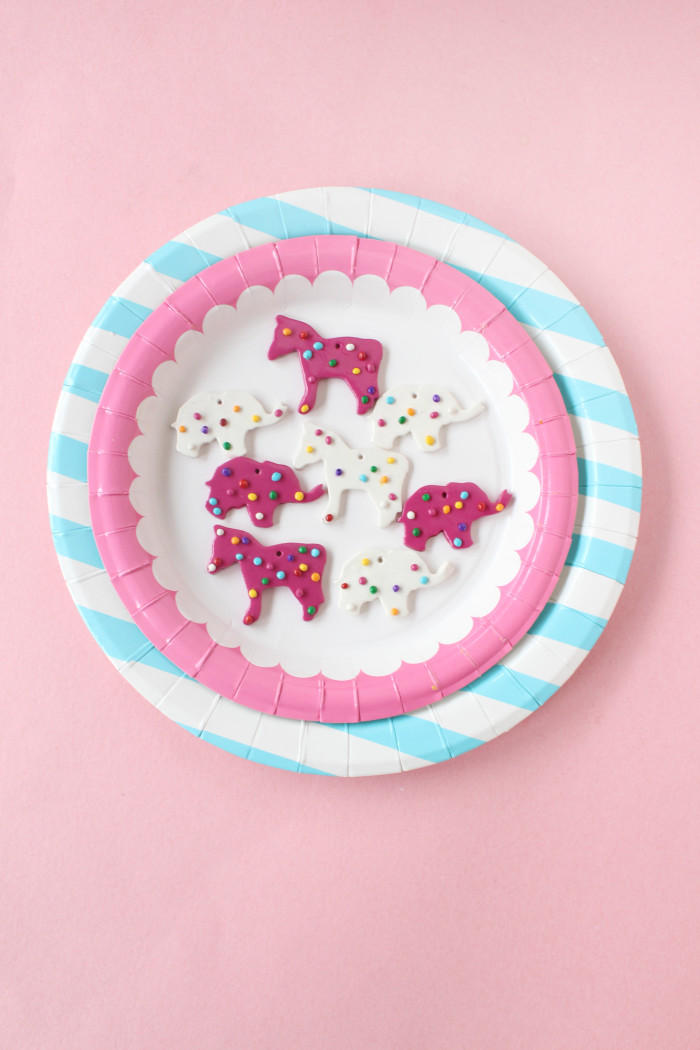 DIY clay animal cookie necklace charms from A Joyful Riot