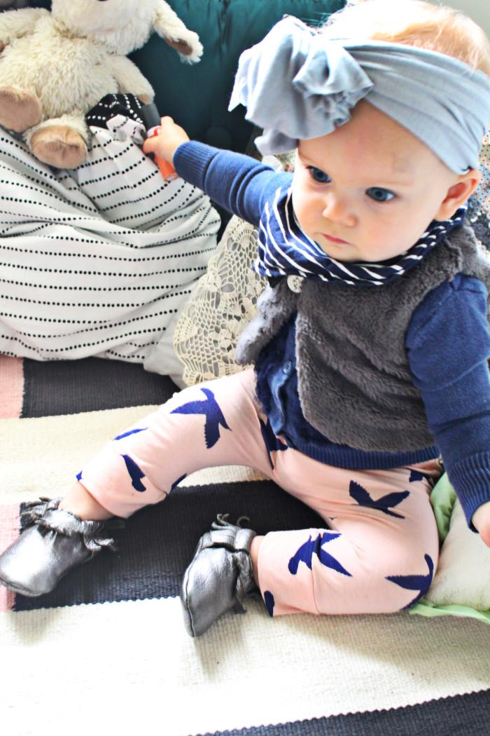 Free pattern for simple baby harem pants via A Joyful Riot