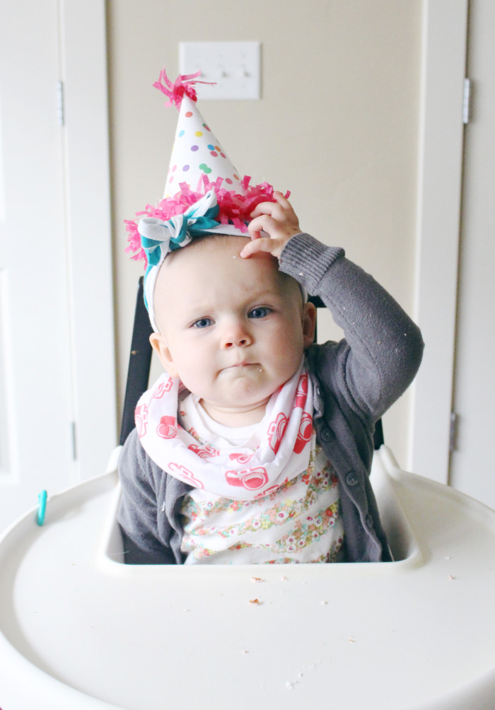 Free printable templates for confetti covered birthday party hats from A Joyful Riot