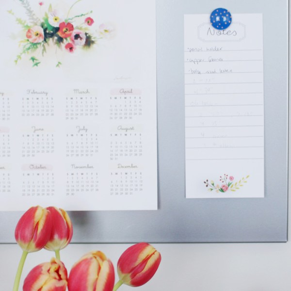 Floral Notepad | Free Printable Friday