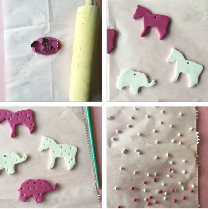 animal cookie necklace steps 1