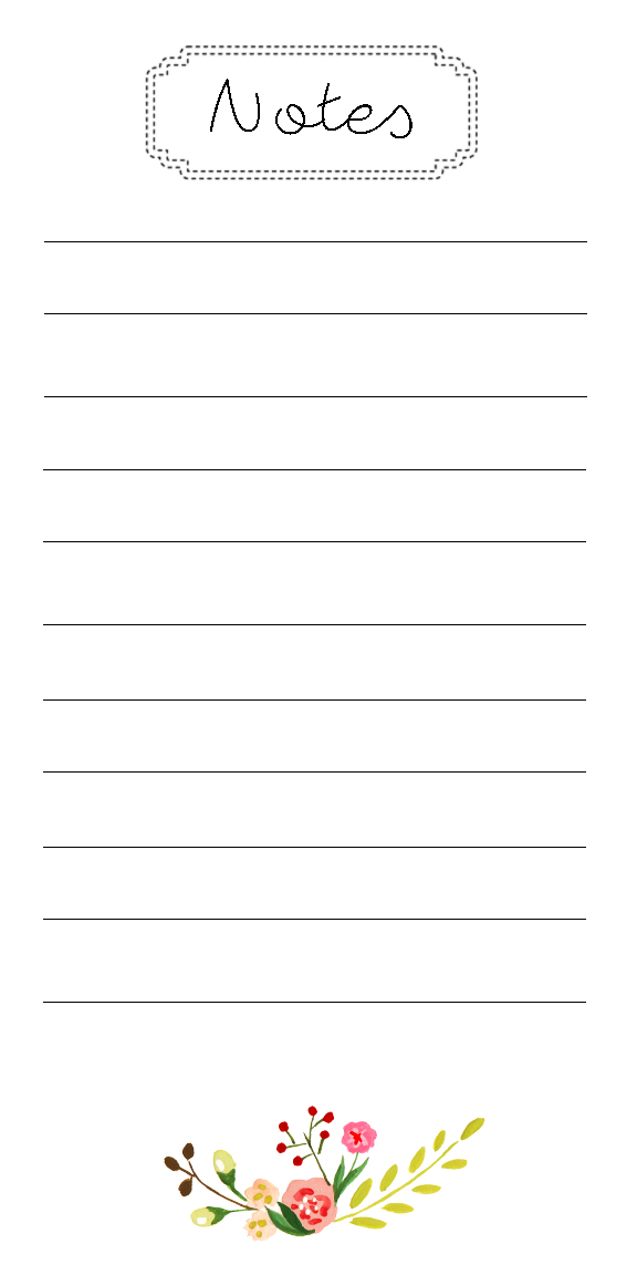 Superb image throughout printable notepad