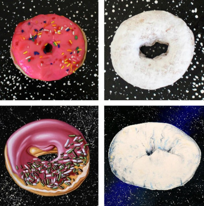 DIY donut trays inspired by the post-modern art of Kenny Scharf, perfect for a donut or an art party! From A Joyful Riot