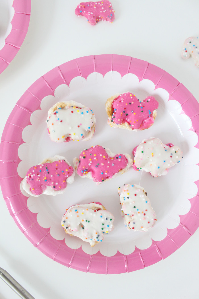 Animal cookies make the perfect most delicious smores ever. And definitely the cutest!   A Joyful Riot